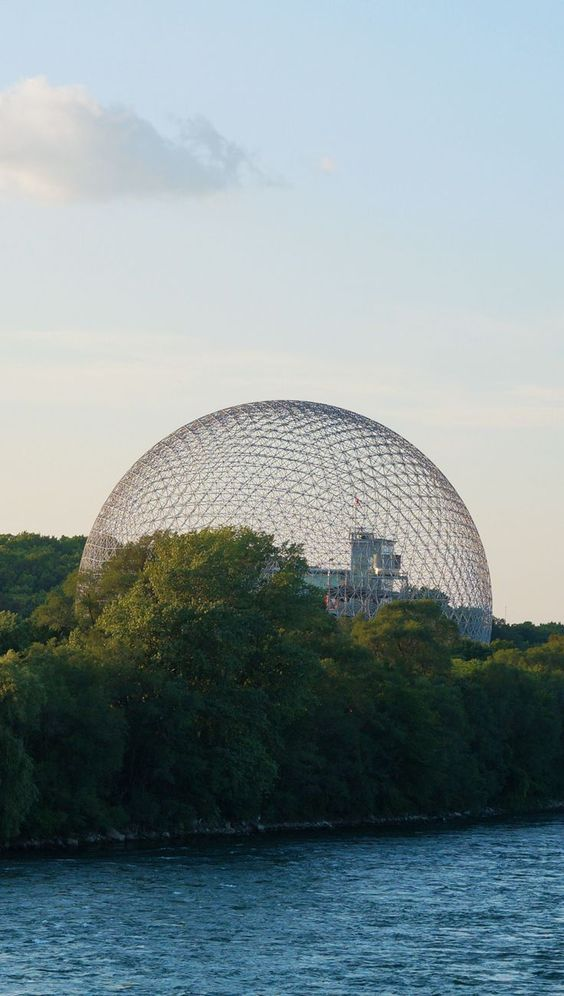 Montreal's Biosphere and Parc Jean-Drapeau great way to spend a beautiful summer's day. Short subway ride to the island filled with bike and walking trails. | Montreal | Biosphere | Museum | Park |