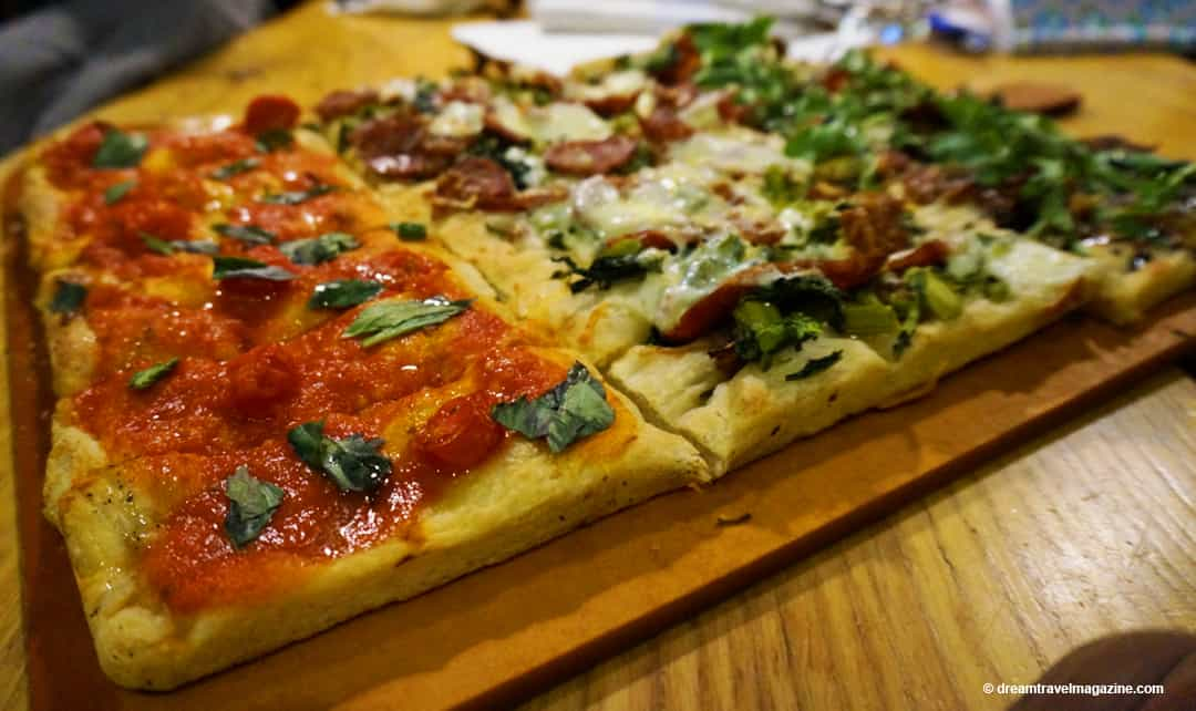 Aroma Restaurant Flatbread Pizza Hamilton Ontario Food Tour