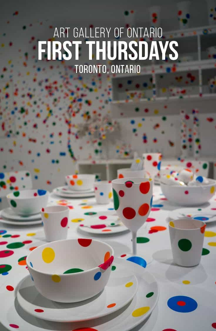 Until May 2018 Toronto's AGO is showing Yayoi Kusama's Infinity Mirrors exhibit. Combine your exhibit with AGO's First Thursdays and enjoy an evening of good food, drinks and art. | Toronto | Art Gallery | Ontario | AGO | Yahoo Kusama | Infinity Mirrors |