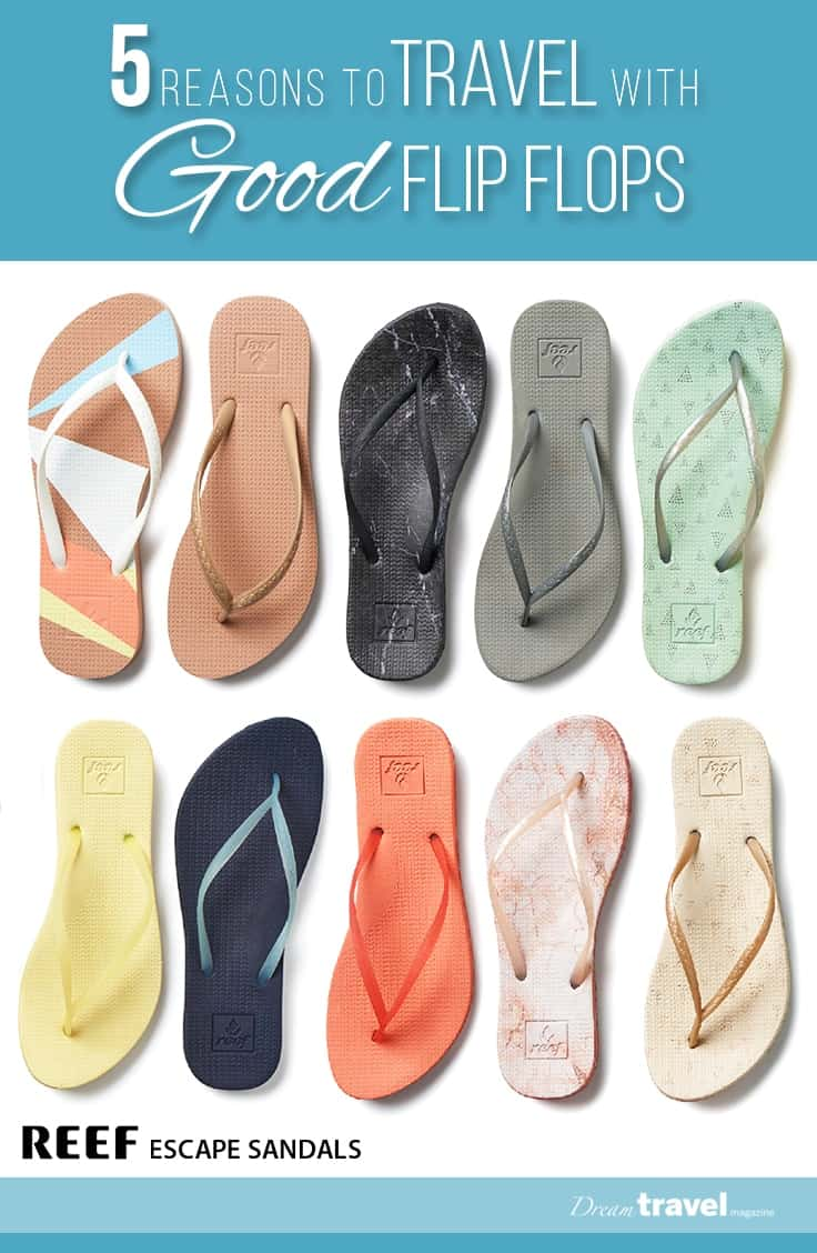 They are so lightweight and have multiple functions on trips, from trips to the spa, pool, beach to giving your feet a much needed break. Good flip flops are a must pack items. In this article we look at Reef Escape Sandals and how they measure up! | packing tips | flip flops | shoes | travel | REEF | review |