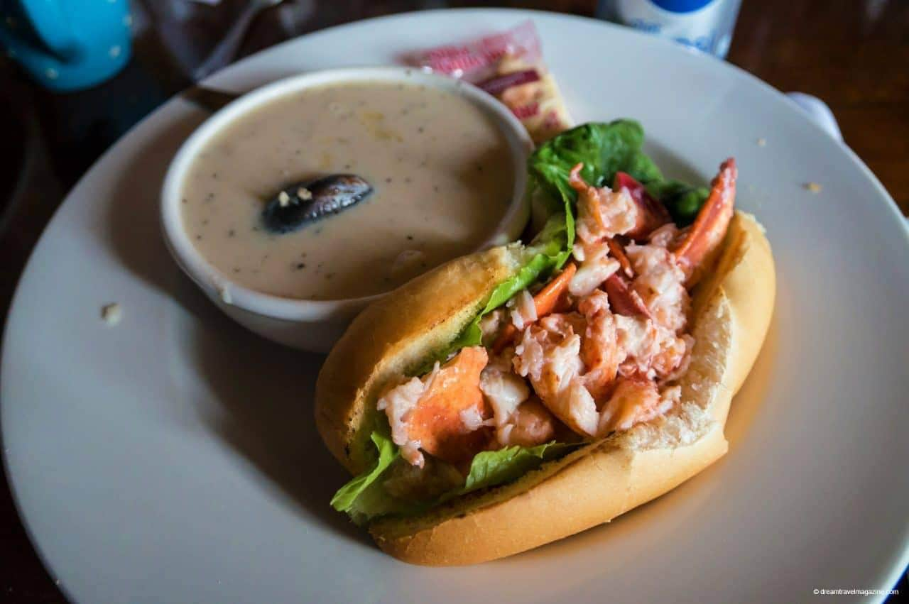 Best Lobster Roll in PEI at Lobster Barn Victoria by the Sea Popular PEI Road Trip stops to the beaches of West Point